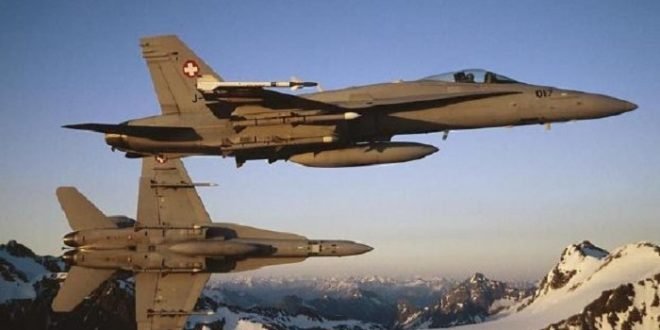 وزارة الدفاع السويسرية تعلن إختفاء طائرة تابعة للقوات الجوية