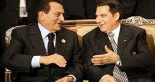 الرئيسين السابقين التونسي زين العابدين بن علي والمصري حسني مبارك