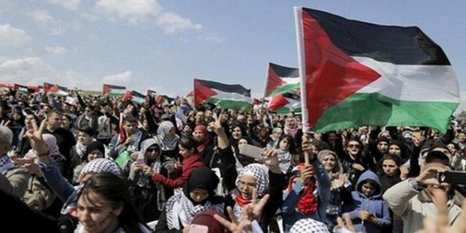 مظاهرات فلسطينية ضد سرائيل