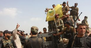 أعلن التلفزيون العراقي أن قوات الحشد الشعبي وصلت إلى الحدود السورية.