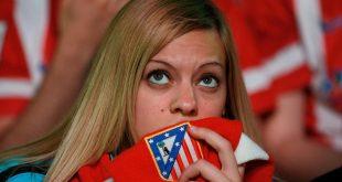 إحدى مشجعات أتلتيكو مدريد