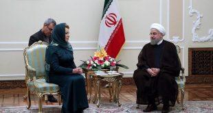 فالنتيا ماتفيينكو، رئيسة مجلس الاتحاد الروسي-الرئيس الإيراني حسن روحاني