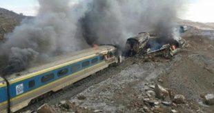 تصادم قطارى ايران